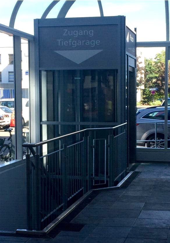 Zugang Tiefgarage